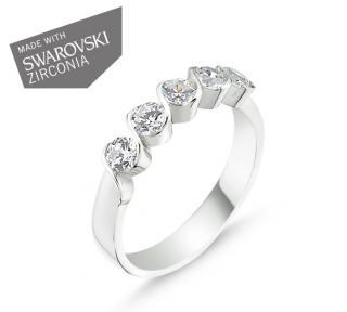d3ce6f8ff Strieborný prsteň so Swarovski zirkónmi Striebro 925/1000: 2 g + RH Veľkosť  prsteňa: 52